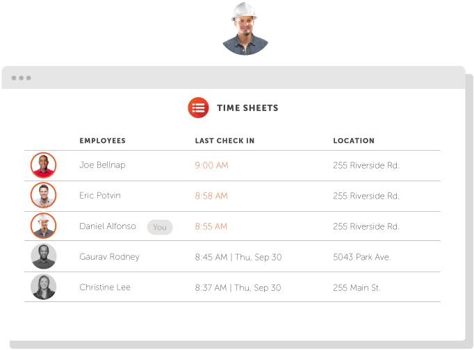 Punchtime Timesheet Interface