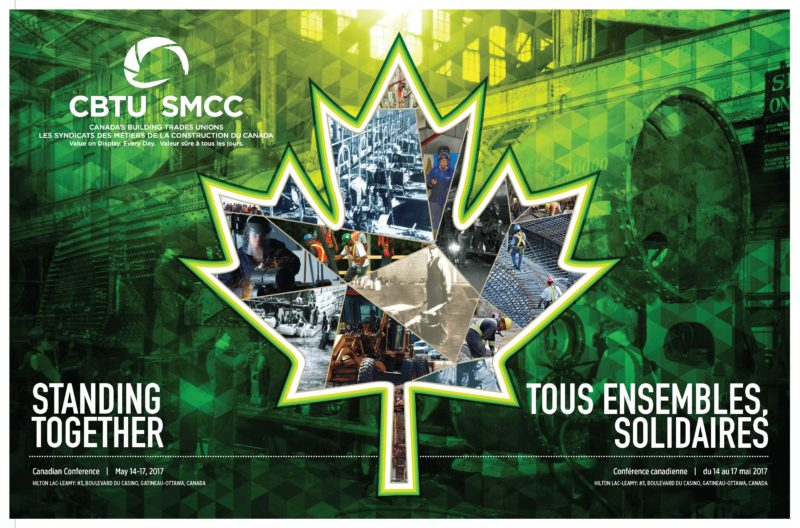 "National Canadian Building Trades ""Standing Together"" conference poster"